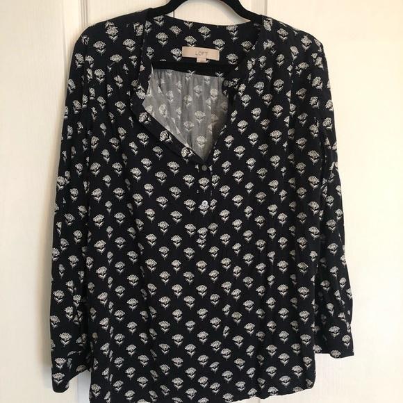 LOFT Tops - LOFT Cotton print blouse